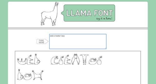 llamafont