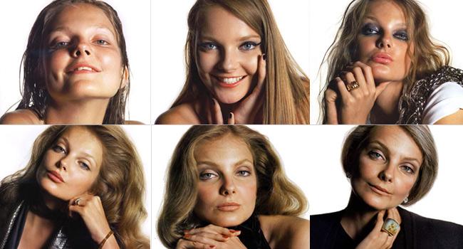 20歳の女の子の写真を10、20、30、40、50、60歳風に加工