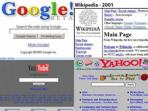 大手サイトの初期デザインはこんなだった