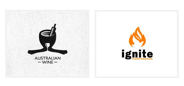 ネガティブスペースをうまくつかったロゴデザイン