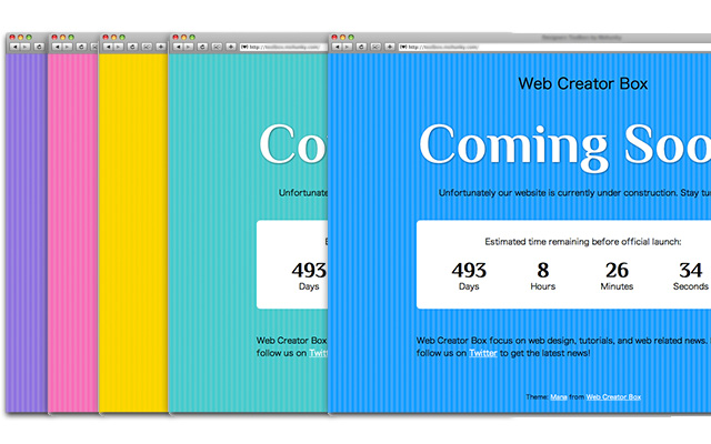 Free Coming Soon Page Template With Countdown Timer Web Creator Box