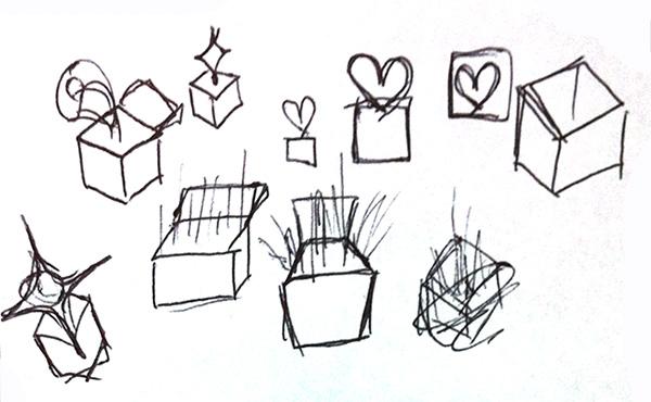 ロゴのラフデザイン