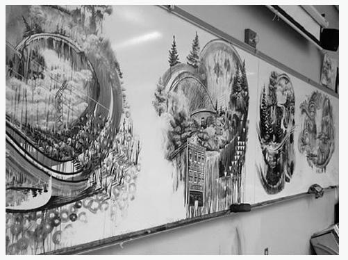 ホワイトボードのアート