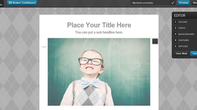 イベント告知に使える1枚ページを簡単に作成できるサイト「Tackk」