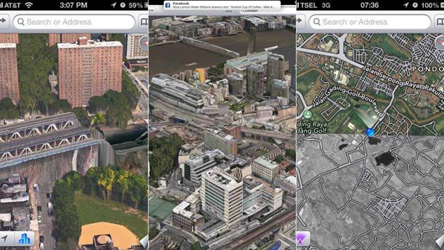 iOS 6のアップル独自地図でホラーと化した世の中