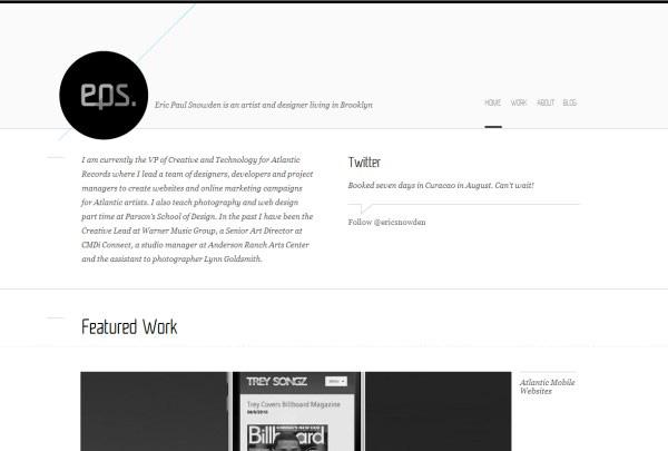 ミニマルなデザインのWebサイト