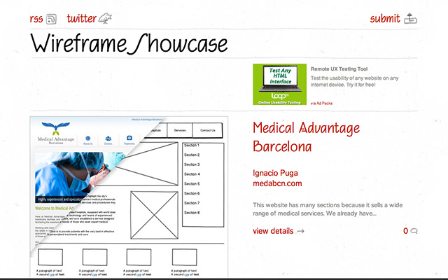 wireframe-showcase