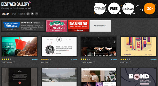 20 Creative Design Galleries To Submit Your Website Web Creator Box
