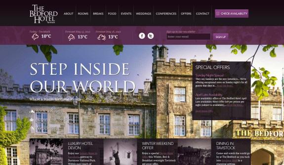 きれいに整っている旅行関連のWebサイト