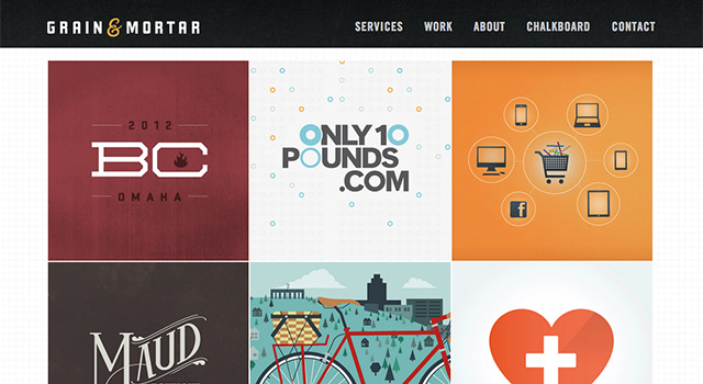 アイデア満載のデザインポートフォリオサイト