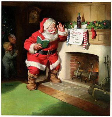 レトロなクリスマス関連広告
