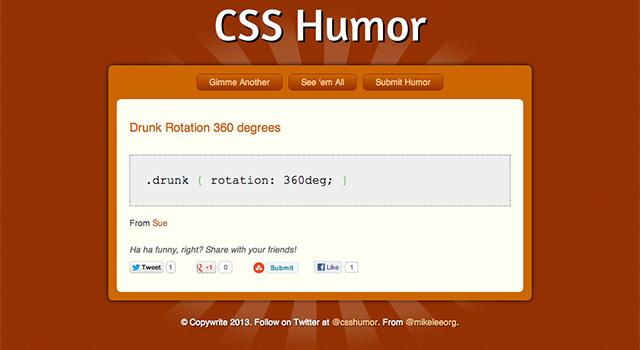 ウケるCSSを集めた『CSS Humor』