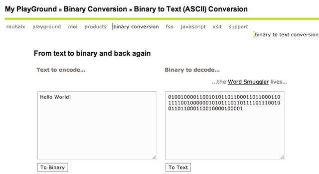 Binary to Text (ASCII) Conversion
