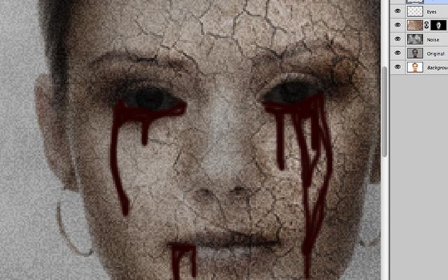 血の涙を描画
