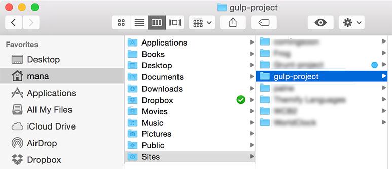 gulp-project-folder
