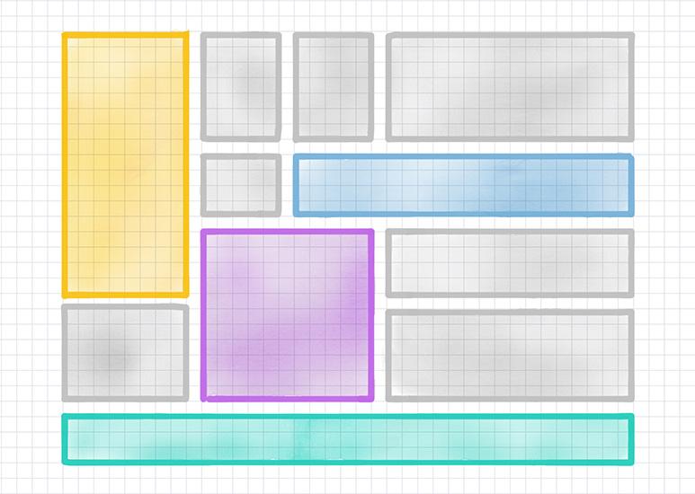 CSSグリッドレイアウトの計画