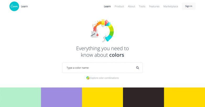 webデザインギャラリー colors canva s design wiki web