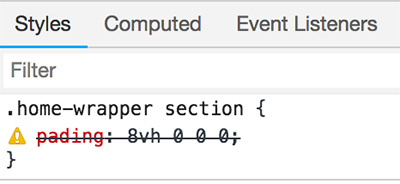 Chromeデベロッパーツールでエラー