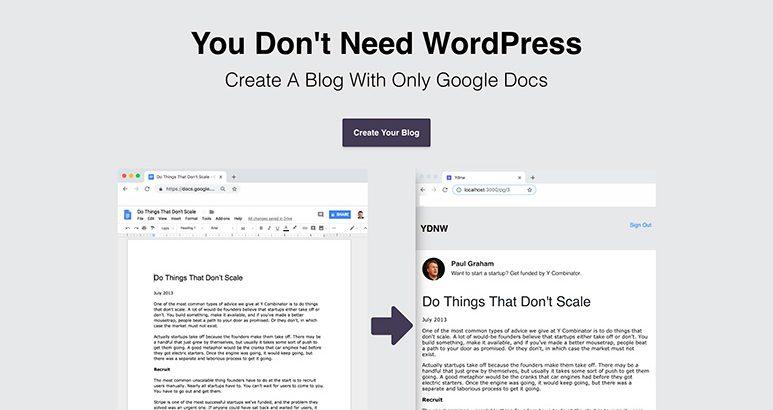 googleドキュメントでブログを生成できるサービス you don t need